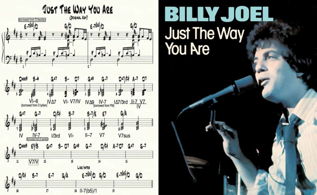 Piano tutorial for Billy Joel's JUST THE WAY YOU ARE